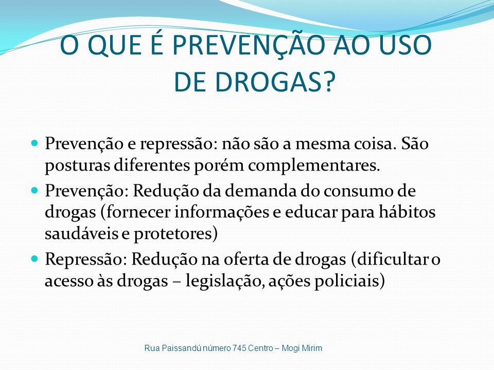 O QUE É PREVENÇÃO AO USO DE DROGAS.Prevenção e repressão: não são a mesma coisa.