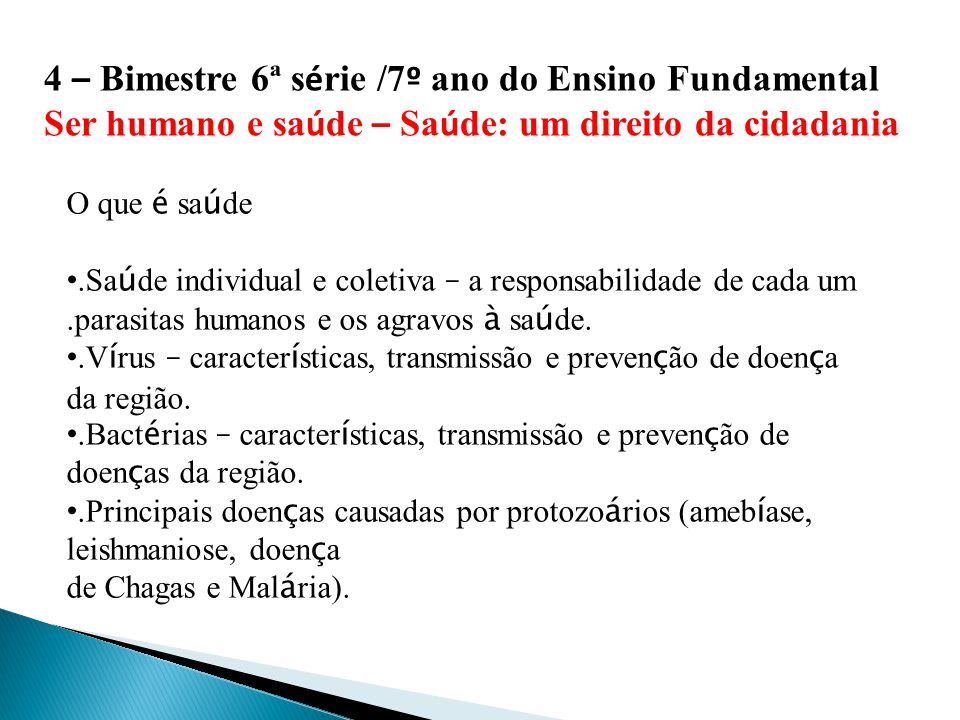 1 º – Bimestre 7 ª s é rie/8 º ano do Ensino Fundamental.