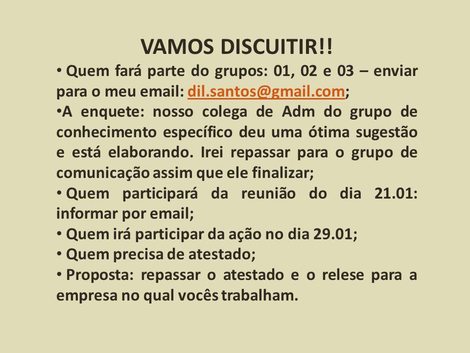 VAMOS DISCUITIR!.