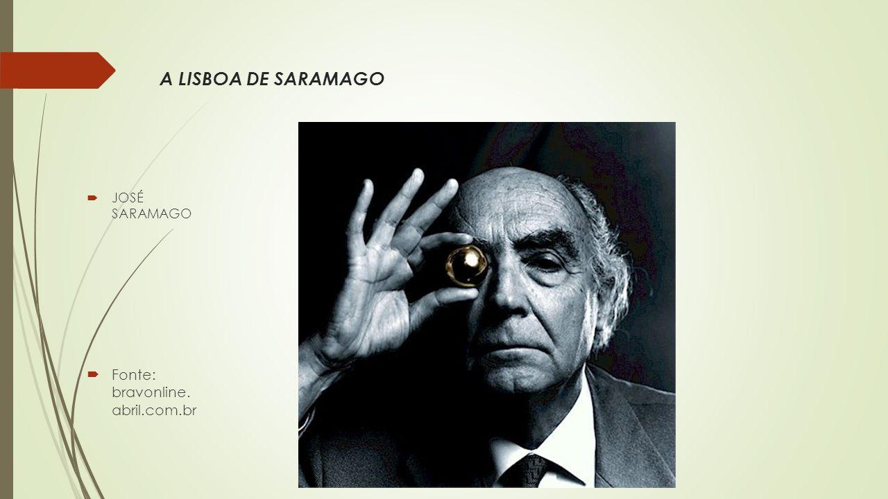  JOSÉ SARAMAGO  Fonte: bravonline. abril.com.br A LISBOA DE SARAMAGO