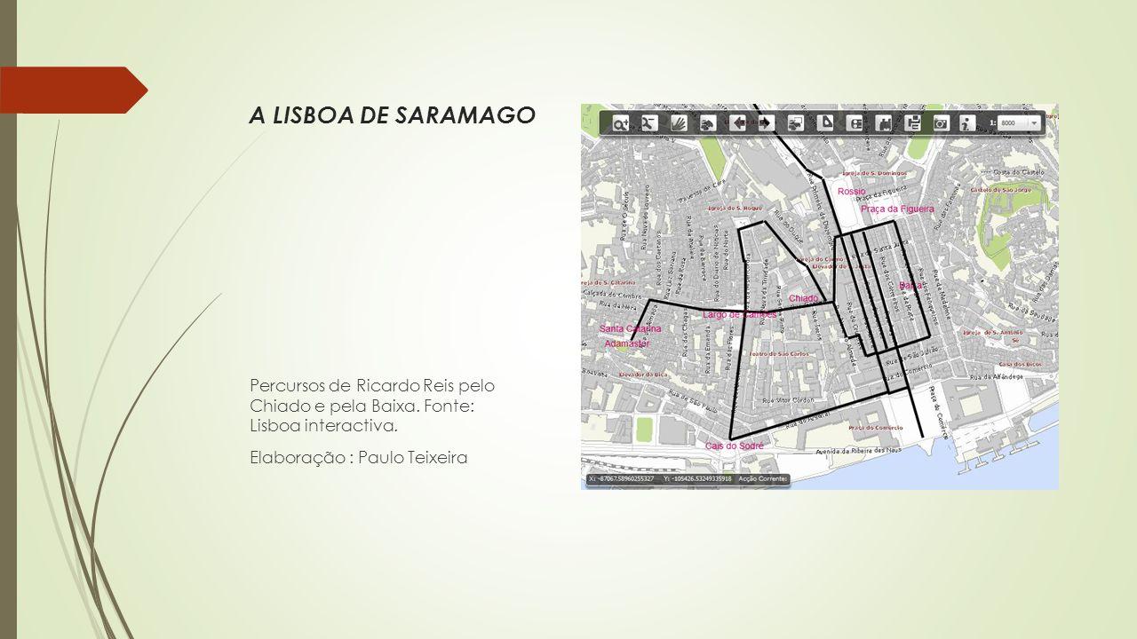 A LISBOA DE SARAMAGO Percursos de Ricardo Reis pelo Chiado e pela Baixa.
