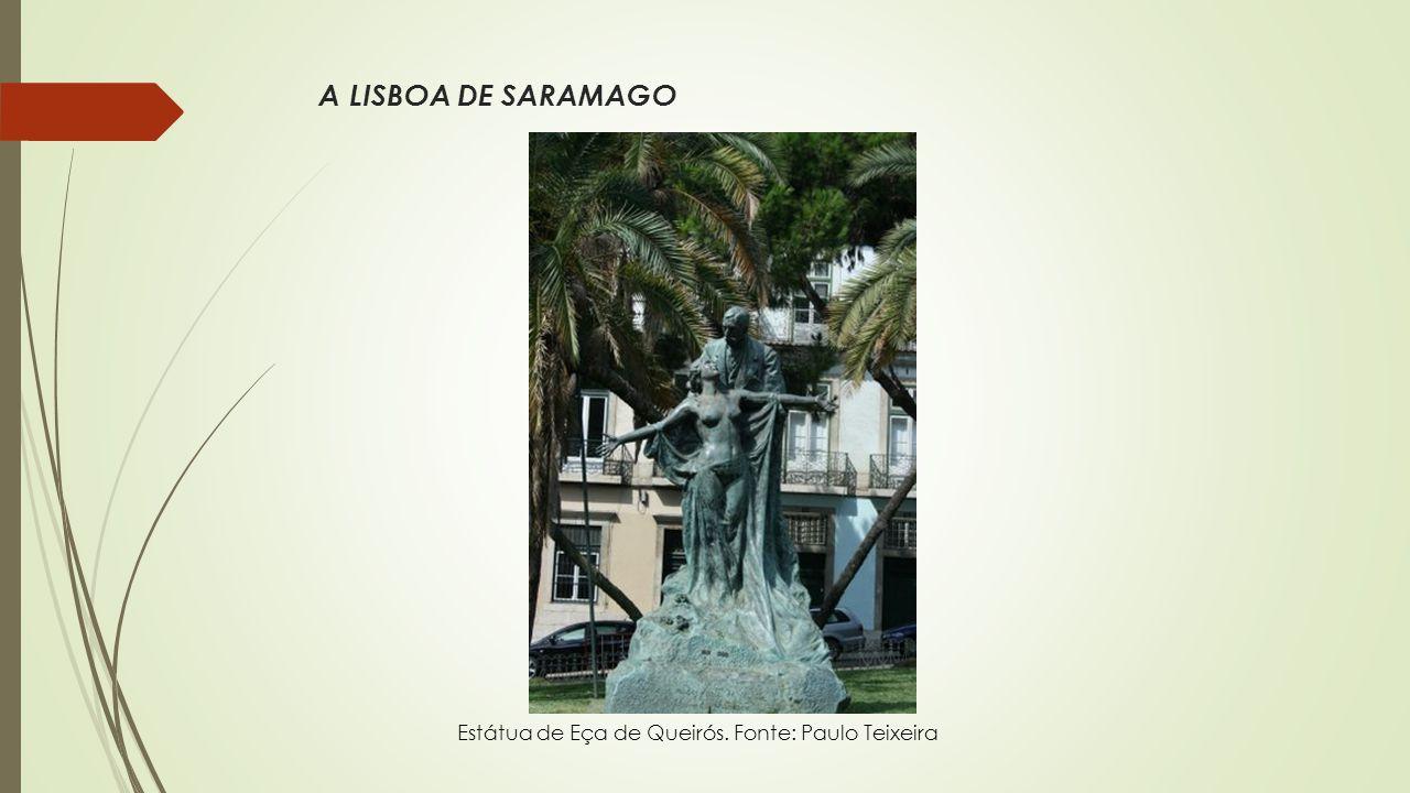 A LISBOA DE SARAMAGO Pormenor da entrada de A Brasileira do Chiado. Fonte: PauloTeixeira