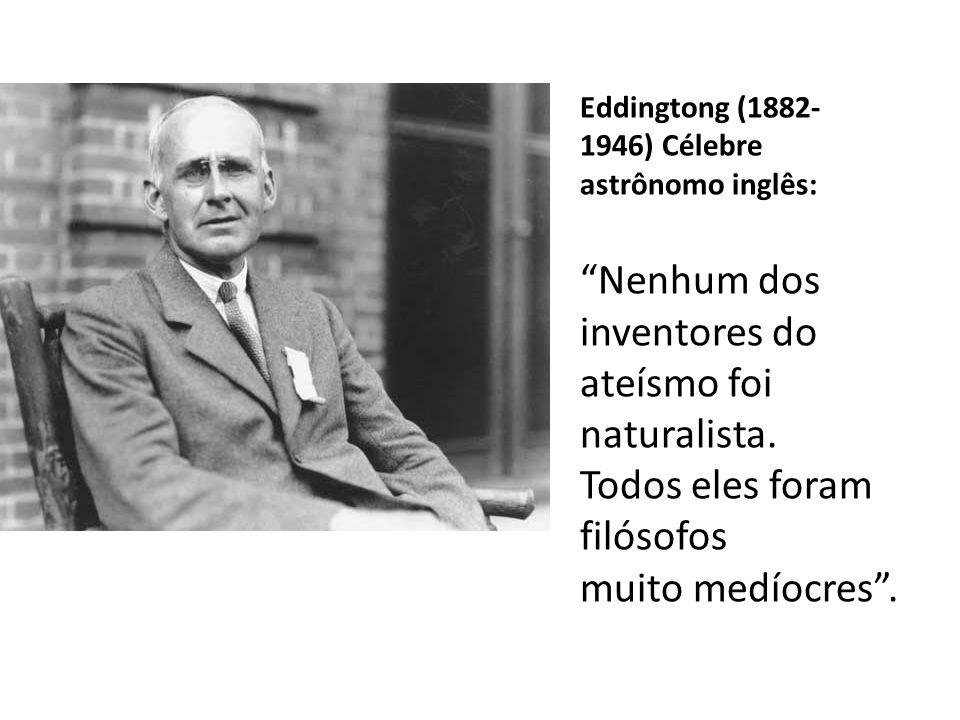 """Millikan (1868- 1953), grande físico americano, Premio Nobel 1923: """"Posso, de minha parte, asseverar, com toda a decisão, que a negação da fé carece d"""