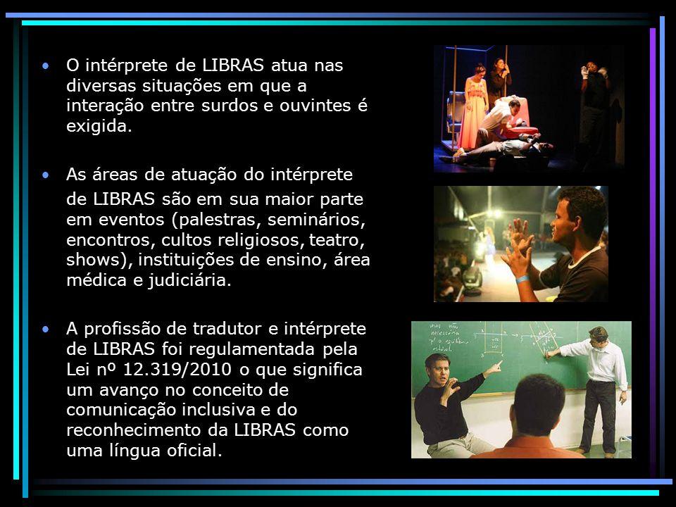 O intérprete de LIBRAS atua nas diversas situações em que a interação entre surdos e ouvintes é exigida.