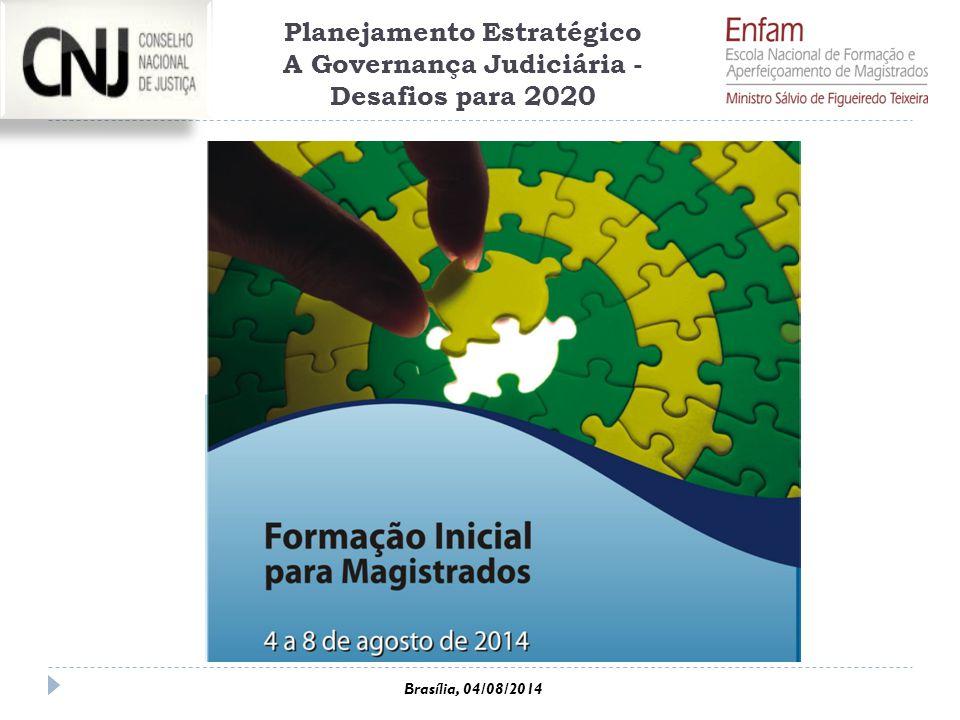Brasília, 04/08/2014 Planejamento Estratégico A Governança Judiciária - Desafios para 2020