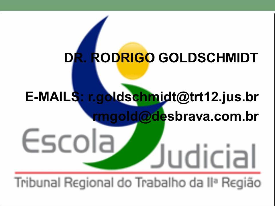 DR. RODRIGO GOLDSCHMIDT E-MAILS: r.goldschmidt@trt12.jus.br rmgold@desbrava.com.br