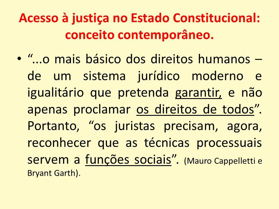 Acesso à justiça no Estado Constitucional: conceito contemporâneo.