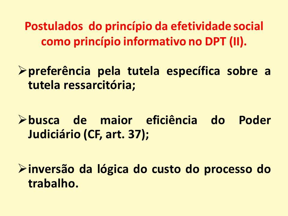 Postulados do princípio da efetividade social como princípio informativo no DPT (II).