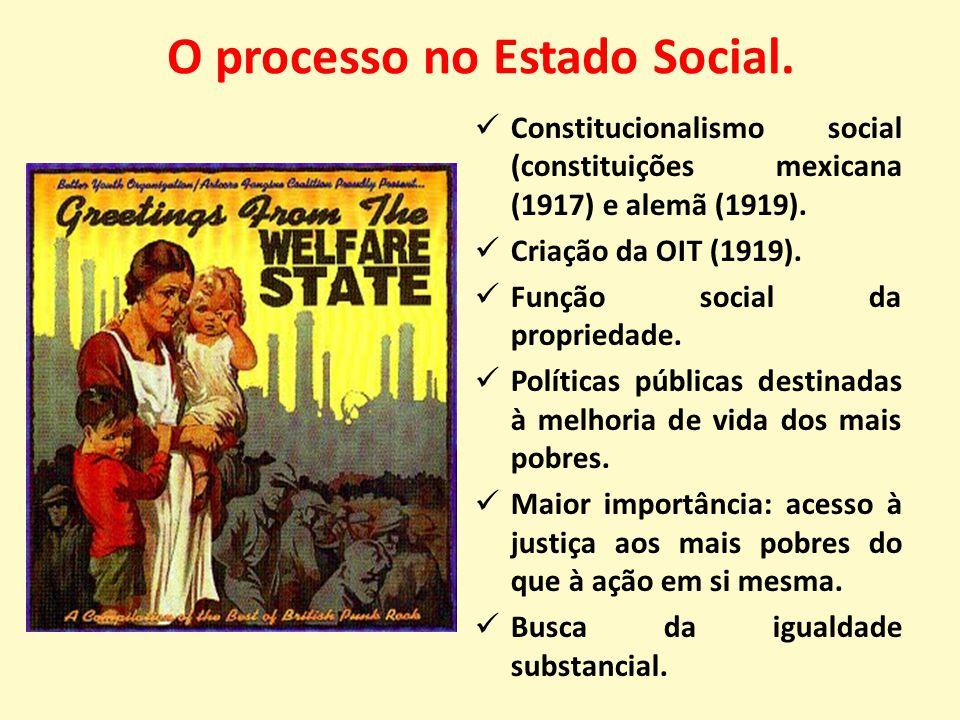 O processo no Estado Social.