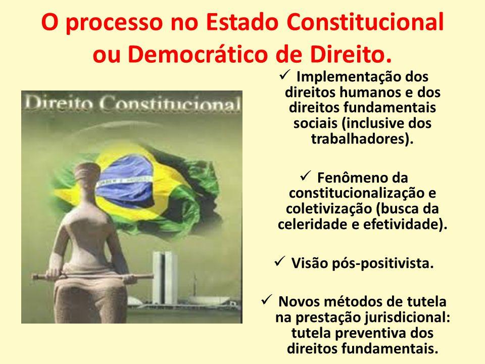 O processo no Estado Constitucional ou Democrático de Direito.