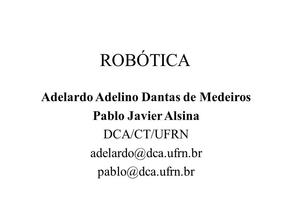 ROBÓTICA Adelardo Adelino Dantas de Medeiros Pablo Javier Alsina DCA/CT/UFRN adelardo@dca.ufrn.br pablo@dca.ufrn.br