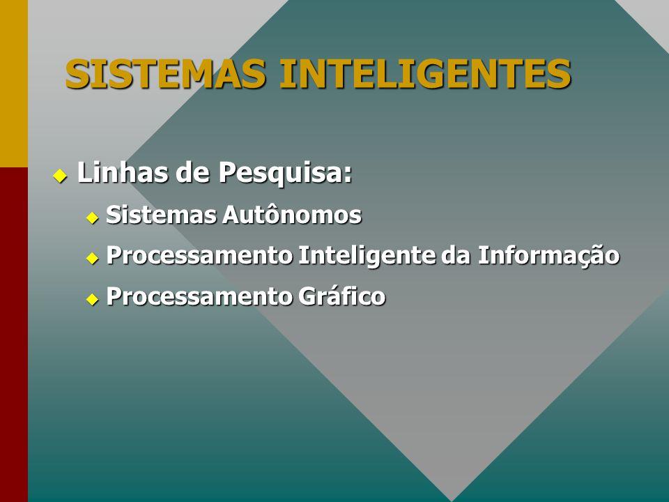  Linhas de Pesquisa:  Sistemas Autônomos  Processamento Inteligente da Informação  Processamento Gráfico