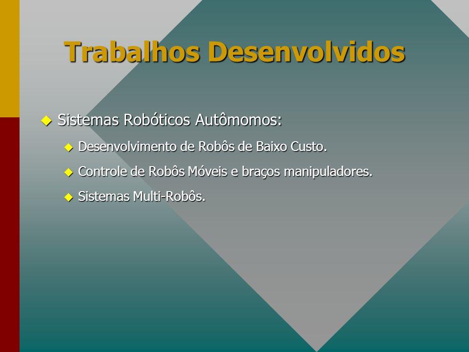 u Sistemas Robóticos Autômomos: u Desenvolvimento de Robôs de Baixo Custo. u Controle de Robôs Móveis e braços manipuladores. u Sistemas Multi-Robôs.