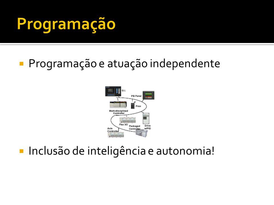  Programação e atuação independente  Inclusão de inteligência e autonomia!