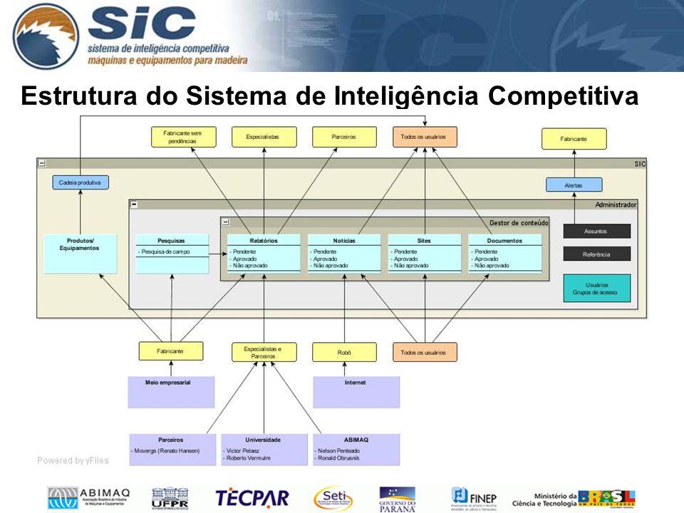Estrutura do Sistema de Inteligência Competitiva