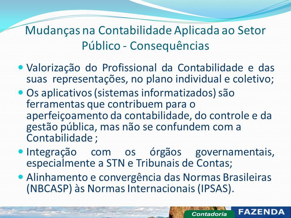 Mudanças na Contabilidade Aplicada ao Setor Público - Consequências Valorização do Profissional da Contabilidade e das suas representações, no plano i