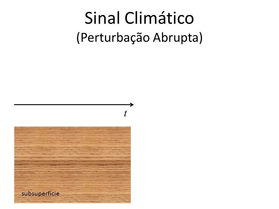 Sinal Climático (Perturbação Abrupta) subsuperfície t