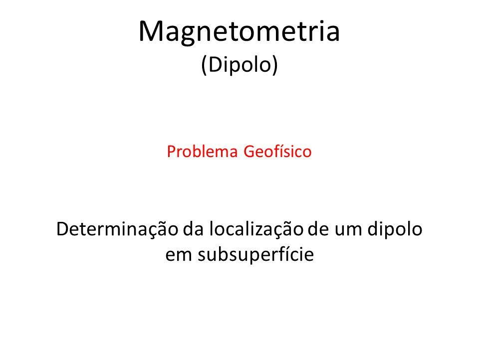 Determinação da localização de um dipolo em subsuperfície Problema Geofísico Magnetometria (Dipolo)