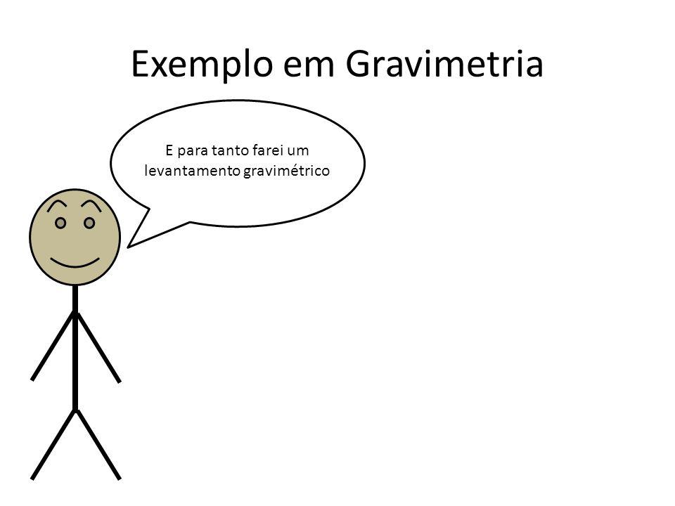 Exemplo em Gravimetria E para tanto farei um levantamento gravimétrico