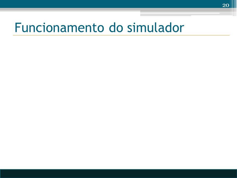 Funcionamento do simulador 20