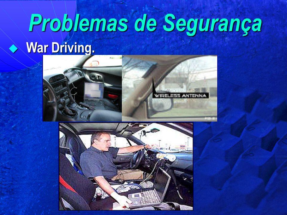 Problemas de Segurança  War Driving.