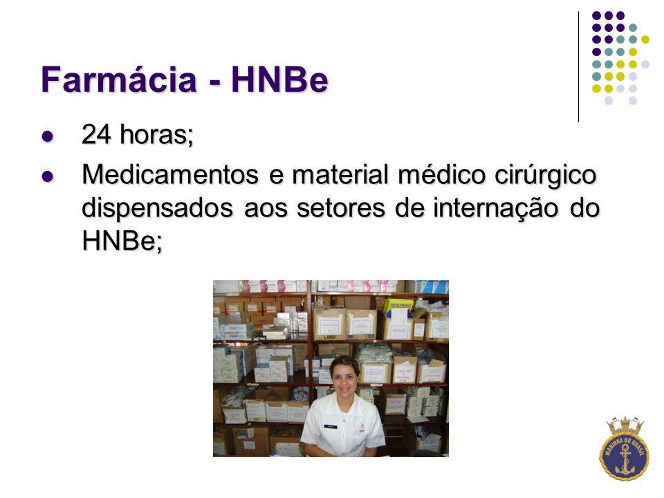 Farmácia - HNBe 24 horas; 24 horas; Medicamentos e material médico cirúrgico dispensados aos setores de internação do HNBe; Medicamentos e material médico cirúrgico dispensados aos setores de internação do HNBe;