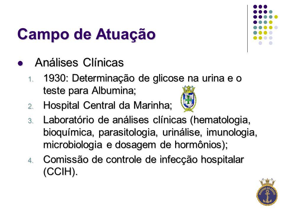 Campo de Atuação Análises Clínicas Análises Clínicas 1.