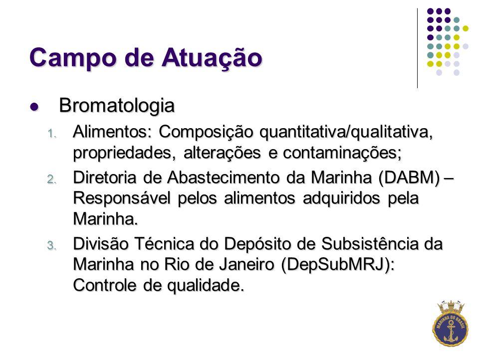 Campo de Atuação Bromatologia Bromatologia 1.