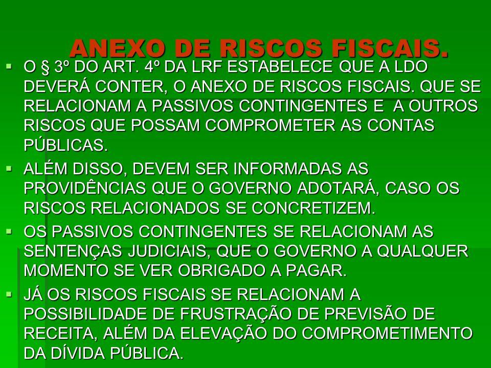 ANEXO DE RISCOS FISCAIS.  O § 3º DO ART.