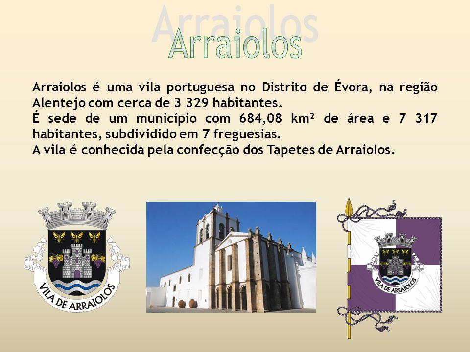Arraiolos é uma vila portuguesa no Distrito de Évora, na região Alentejo com cerca de 3 329 habitantes.