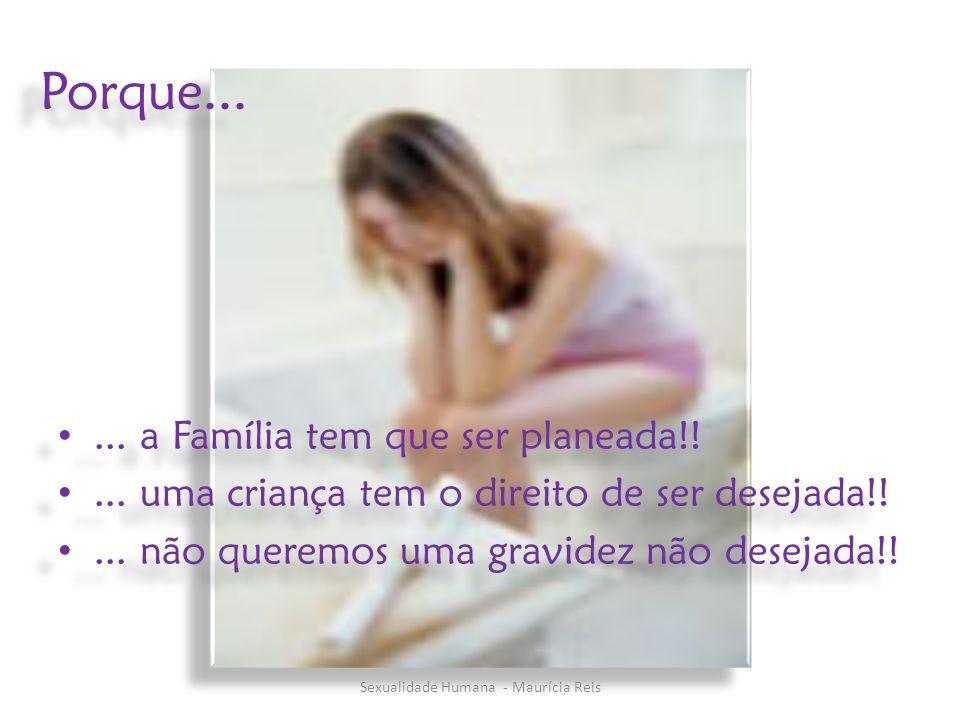 Porque...... a Família tem que ser planeada!!... uma criança tem o direito de ser desejada!!... não queremos uma gravidez não desejada!!... a Família