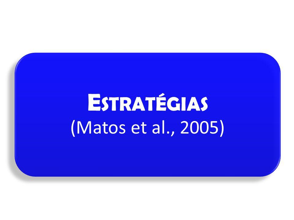 E STRATÉGIAS (Matos et al., 2005)