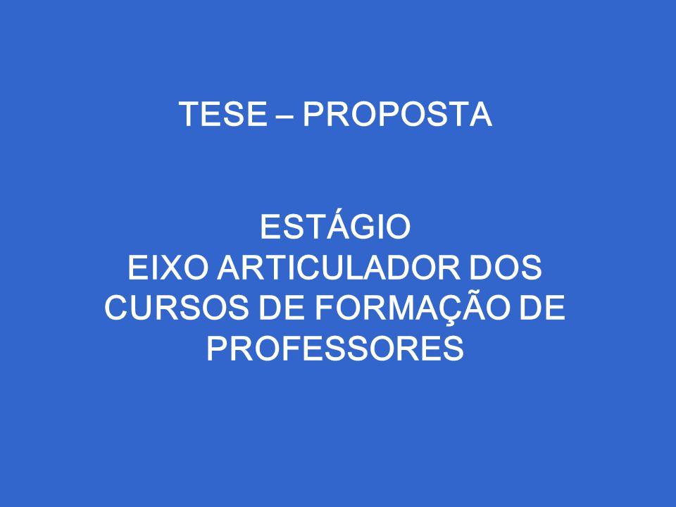 TESE – PROPOSTA ESTÁGIO EIXO ARTICULADOR DOS CURSOS DE FORMAÇÃO DE PROFESSORES