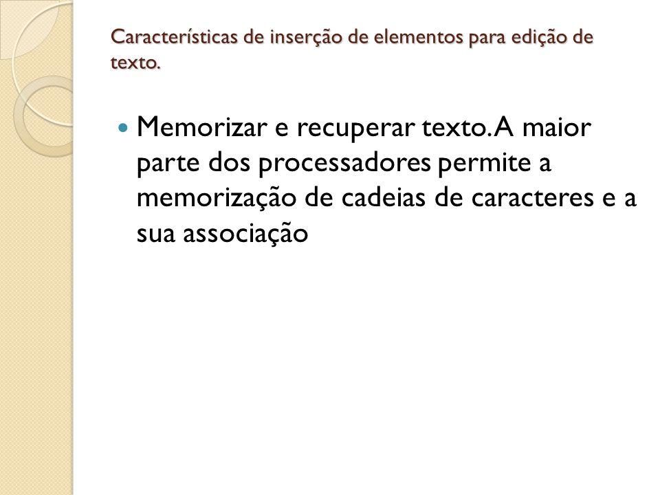 Características de criação e manipulação de tabelas