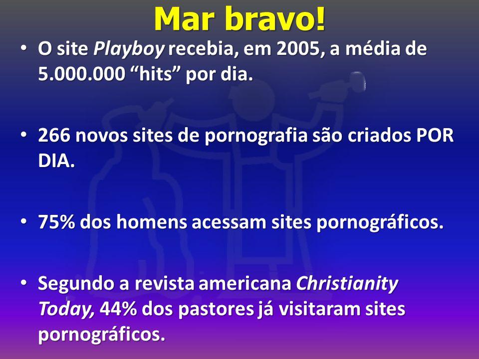 Mar bravo. O site Playboy recebia, em 2005, a média de 5.000.000 hits por dia.