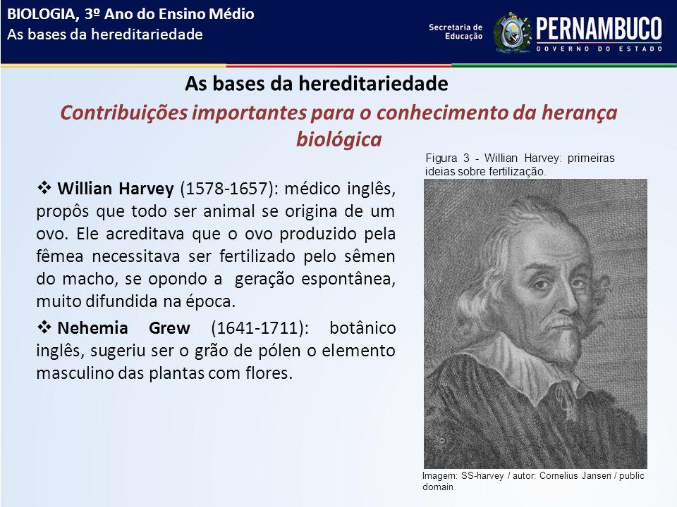  Willian Harvey (1578-1657): médico inglês, propôs que todo ser animal se origina de um ovo.