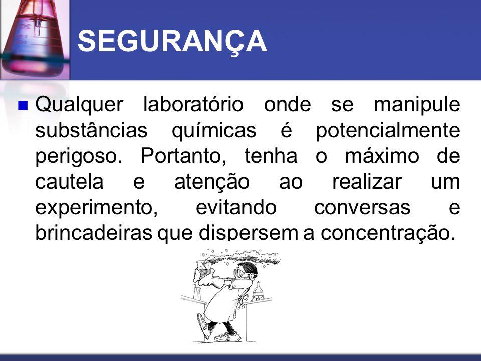 USO DE CHAMA As substâncias químicas, principalmente os solventes, são normalmente, voláteis, corrosivos e combustíveis.