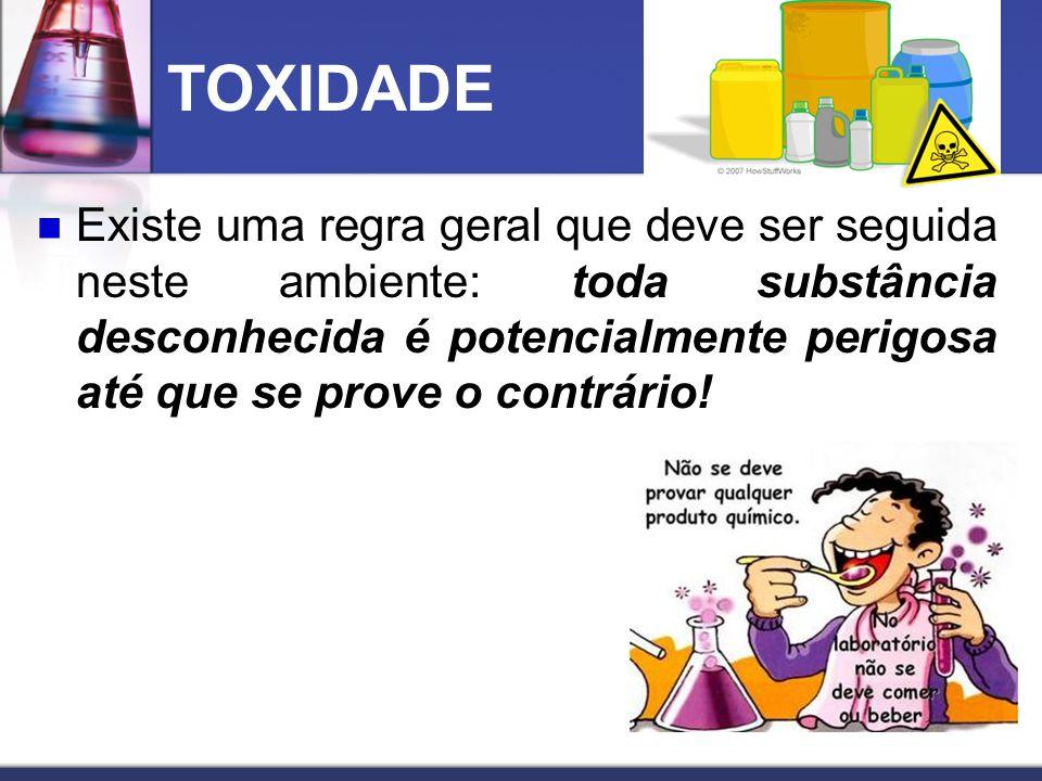 A toxidade das substâncias químicas varia enormemente e nem todas, mesmo as mais comuns, tiveram seus aspectos toxicológicos suficientemente estudados.
