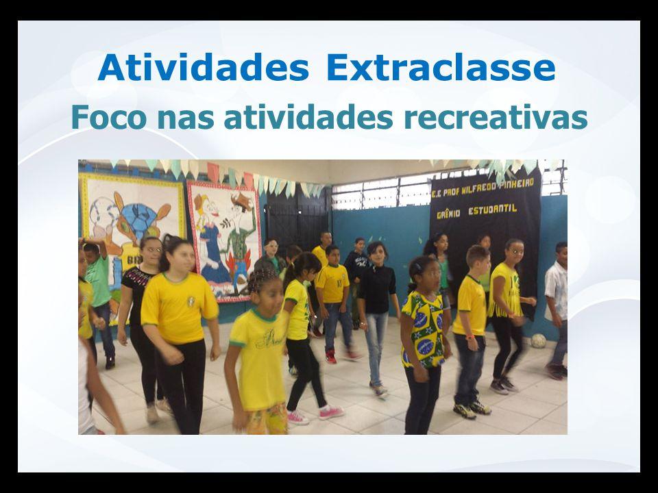 Atividades Extraclasse Foco nas atividades recreativas