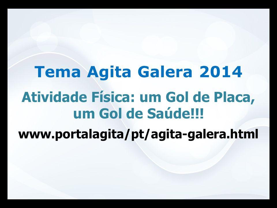 Atividade Física: um Gol de Placa, um Gol de Saúde!!! www.portalagita/pt/agita-galera.html Tema Agita Galera 2014