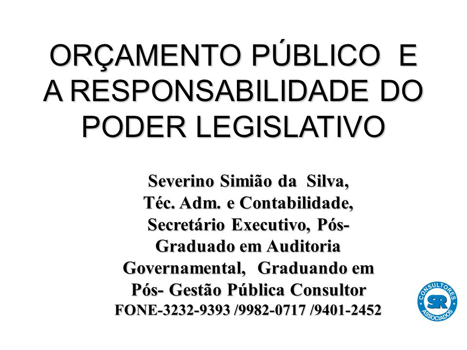 Severino Simião da Silva, Téc. Adm.