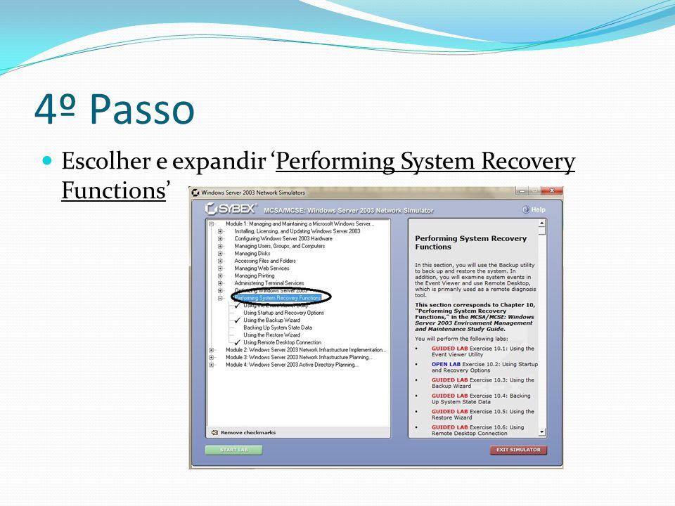5º Passo Seleccionar 'Using Remote Desktop Connection'.