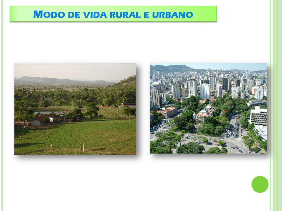 E SPAÇO RURAL Espaço urbano É o espaço destinado principalmente às atividades do setor primário (agricultura, pecuária, silvicultura...) e que compreende também as habitações da população rural.