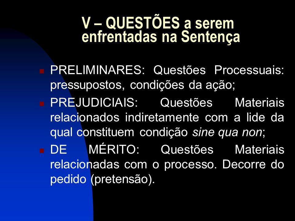 VI – ESTRUTURA da Sentença: 1) Relatório: retrospectiva do processo (ato histórico).