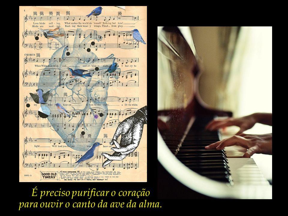 É preciso purificar os ouvidos para poder contemplar as melodias do coração.