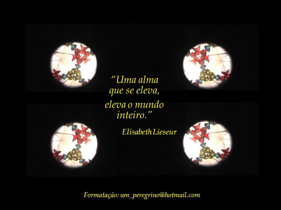 Uma alma que se eleva, eleva o mundo inteiro. Elisabeth Lieseur Tema musical: Ária de amor (de Tosca), interpretada pela Royal Philharmonic
