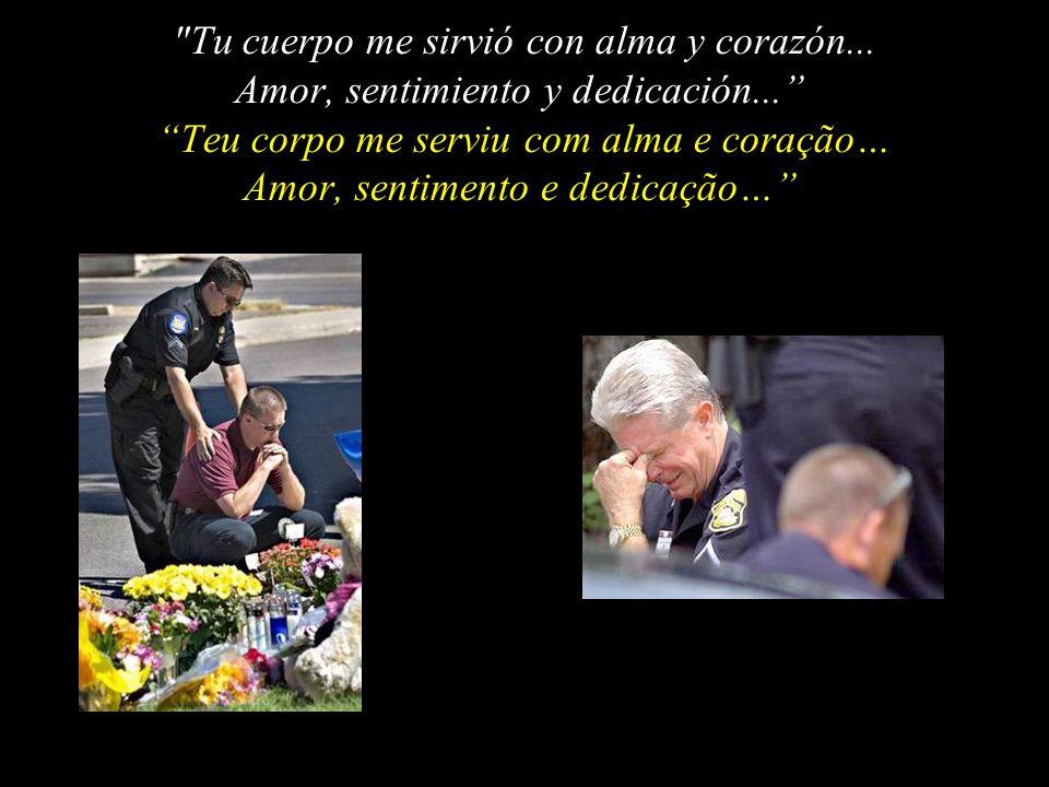 El Policía, postrándose, espera el veredicto del SEÑOR... O policial, ajoelhando-se, espera o veredito do Senhor…
