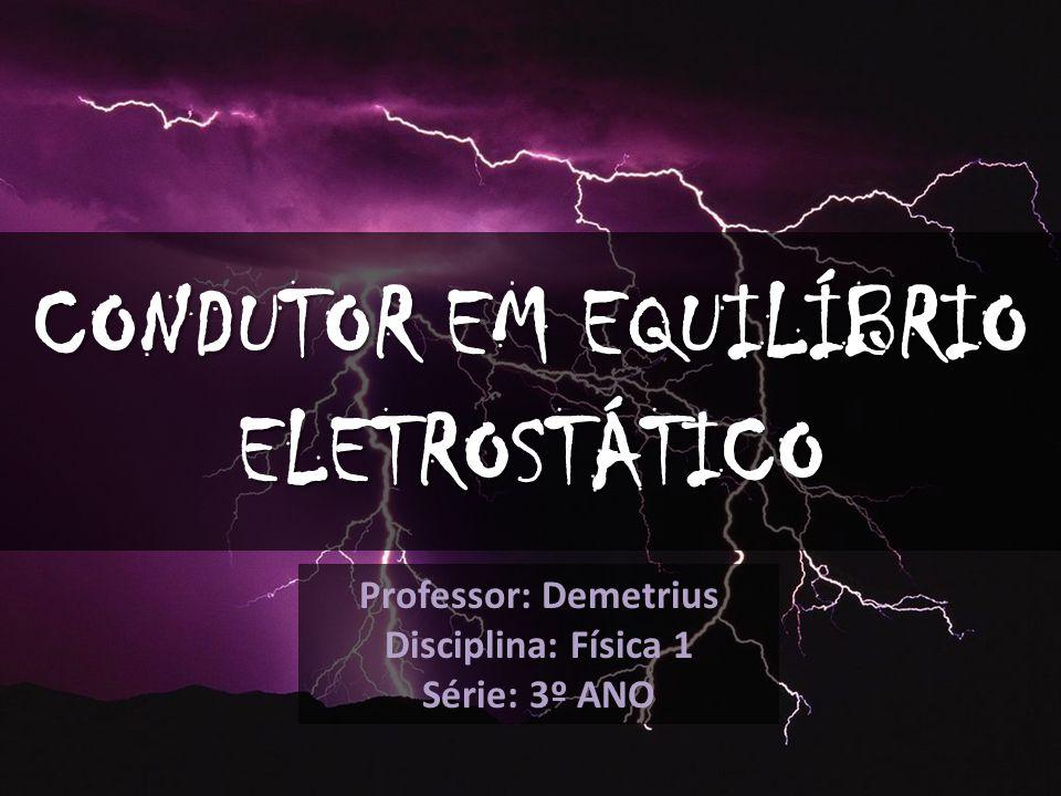 CONDUTOR EM EQUILÍBRIO ELETROSTÁTICO Professor: Demetrius Disciplina: Física 1 Série: 3º ANO