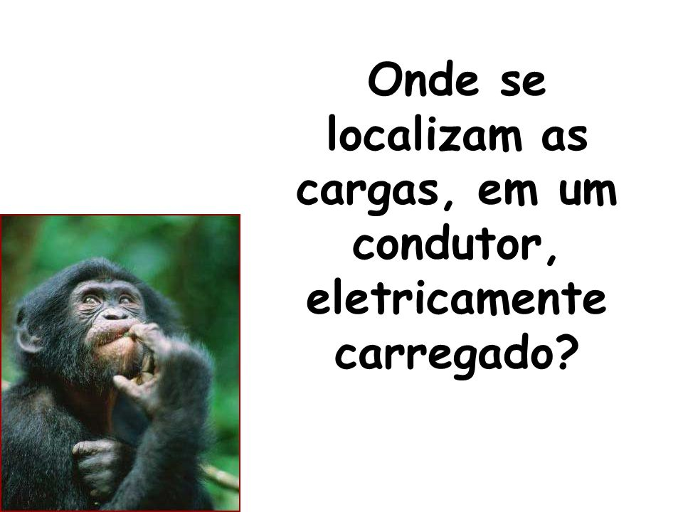 Onde se localizam as cargas, em um condutor, eletricamente carregado?