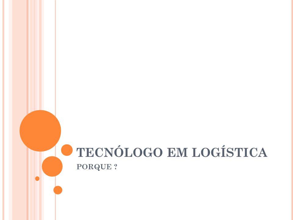 O CURSO DE LOGÍSTICA Procura suprir a lacuna por profissionais com formação e capacitação para desempenhar o papel de gestor de cadeias logísticas e de suprimentos nos mais variados campos de atividade empresarial, a partir de uma compreensão de que a Logística é elemento de estratégia coorporativa.